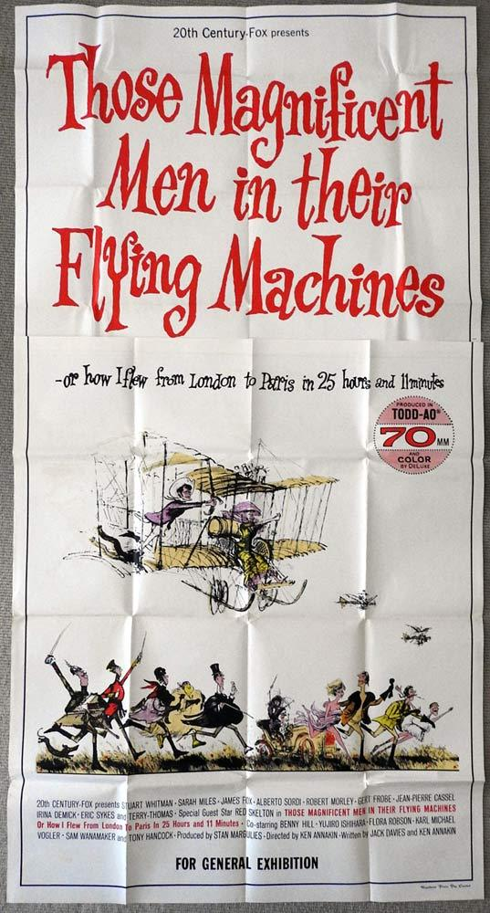 THOSE MAGNIFICENT MEN IN THEIR FLYING MACHINES Original AUSTRALIAN 3 Sheet Movie Poster