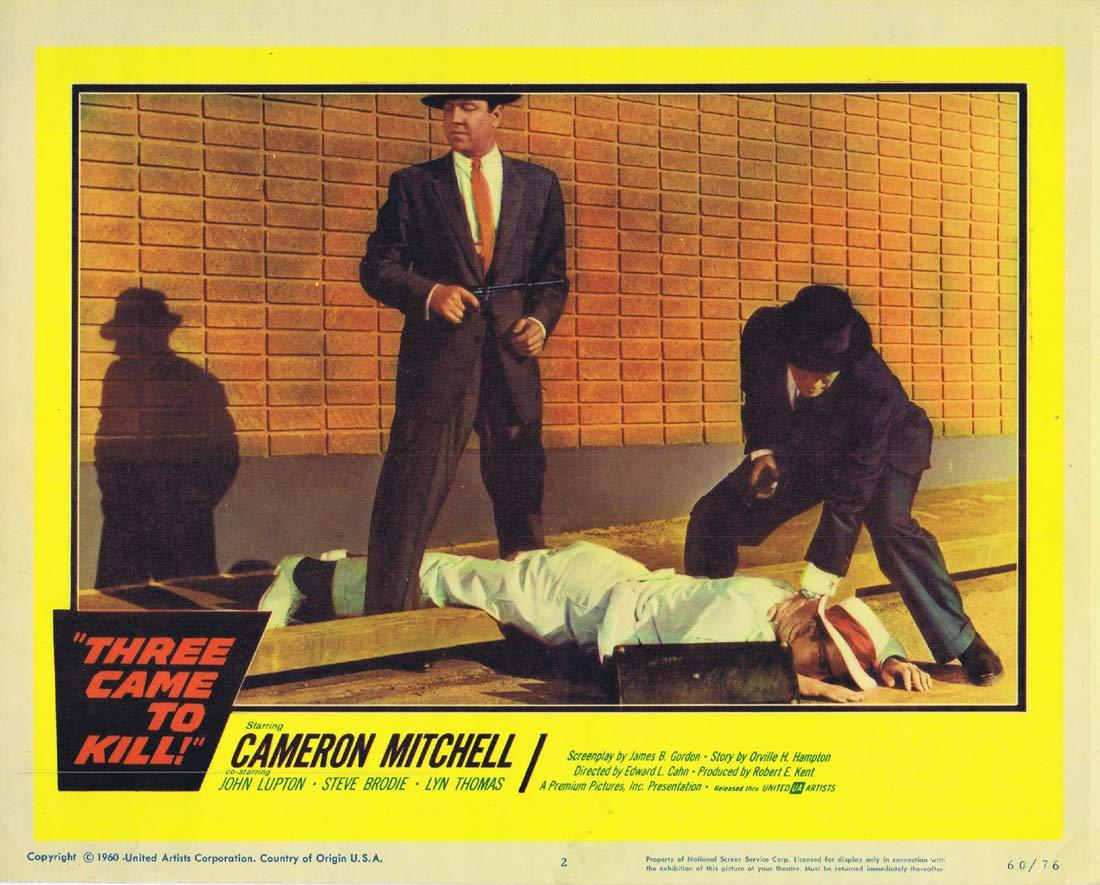 THREE CAME TO KILL Lobby Card 2 Cameron Mitchell Steve Brodie John Lupton