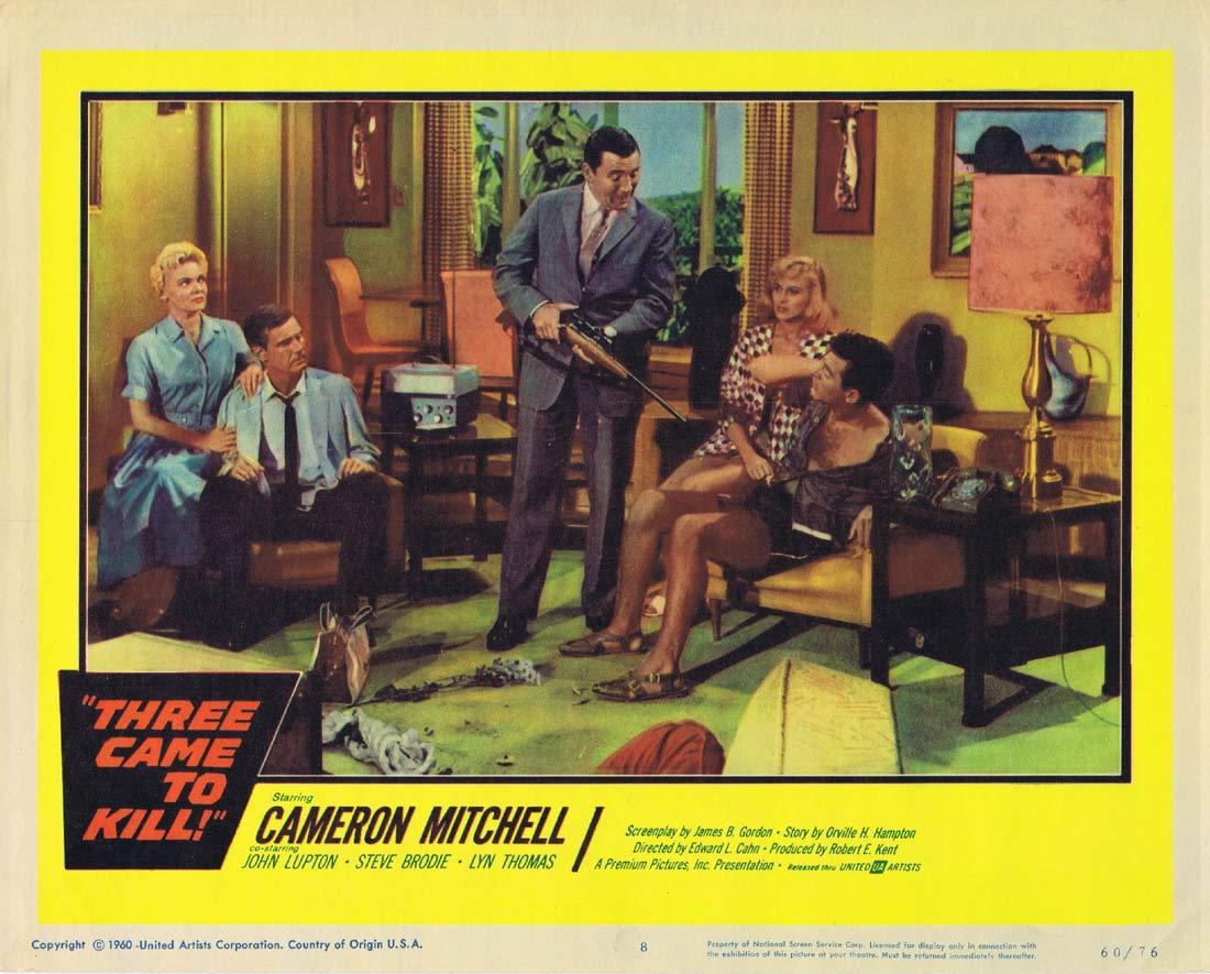 THREE CAME TO KILL Lobby Card 8 Cameron Mitchell Steve Brodie John Lupton