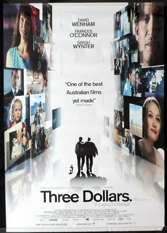THREE DOLLARS Australian One sheet Movie poster David Wenham