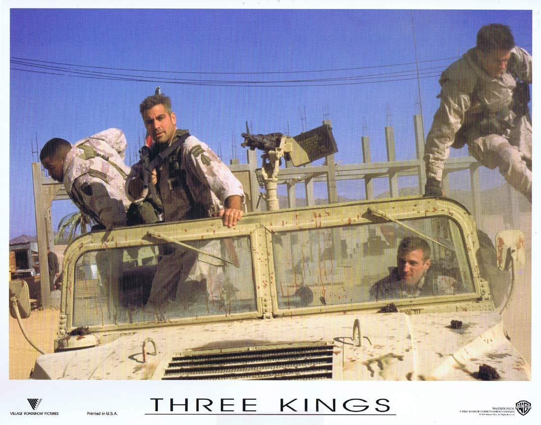THREE KINGS Original Lobby Card 1 George Clooney Mark Wahlberg