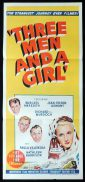 THREE MEN AND A GIRL Original Daybill Movie Poster The Gay Adventure