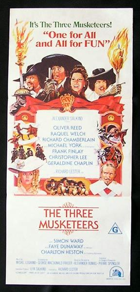 THE THREE MUSKETEERS Daybill Movie Poster Raquel Welch Oliver Reed