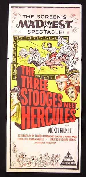 THREE STOOGES MEET HERCULES 1962 Daybill Movie poster