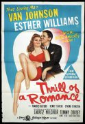 THRILL OF A ROMANCE Original One sheet Movie Poster ESTHER WILLIAMS Van Johnson