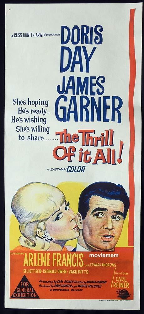 THE THRILL OF IT ALL Original Daybill Movie Poster Doris Day James Garner
