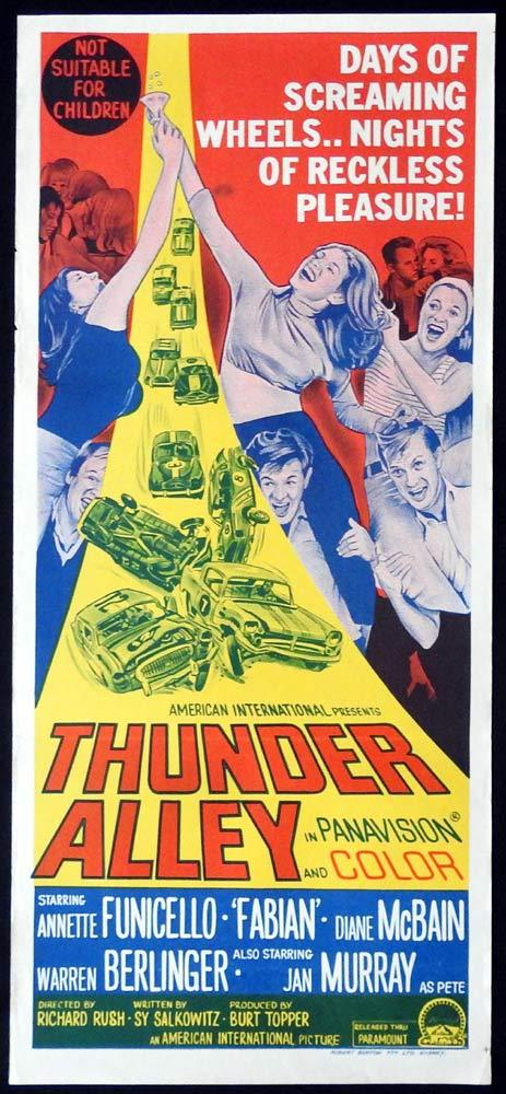 THUNDER ALLEY Original Daybill Movie Poster Annette Funicello