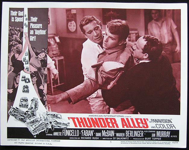 THUNDER ALLEY Lobby card 5 Annette Funicello Fabian Motor Racing