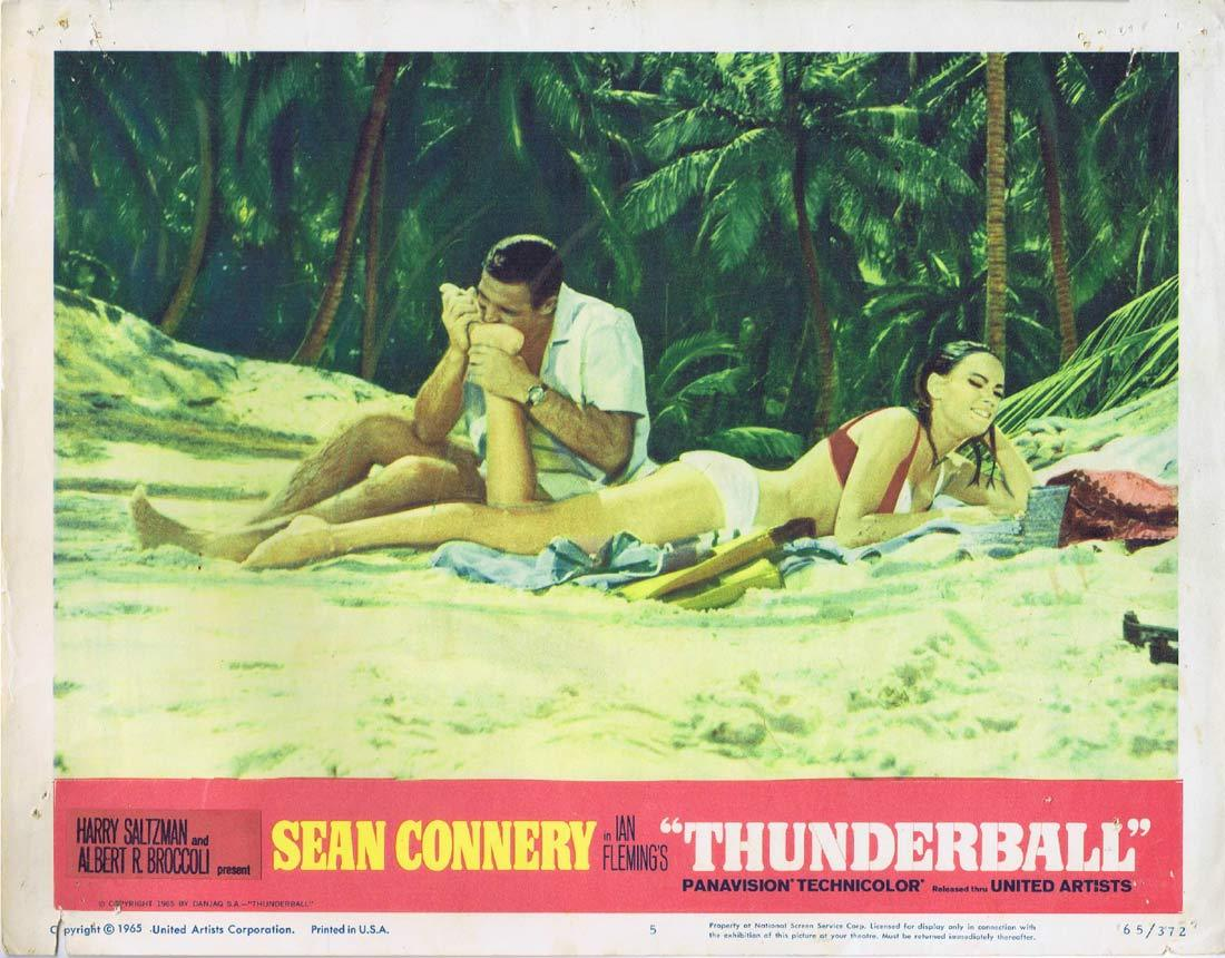 THUNDERBALL Original Lobby Card 5 Claudine Auger James Bond
