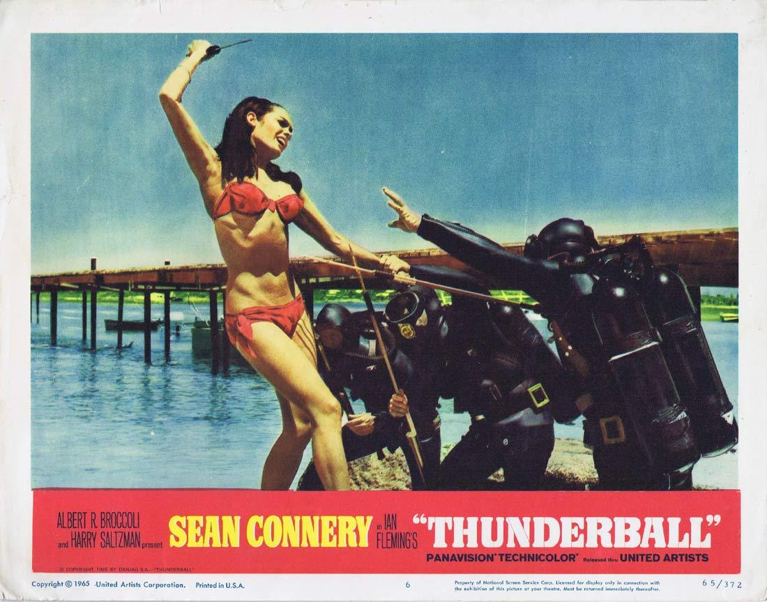 THUNDERBALL Original Lobby Card 6 Martine Beswick James Bond