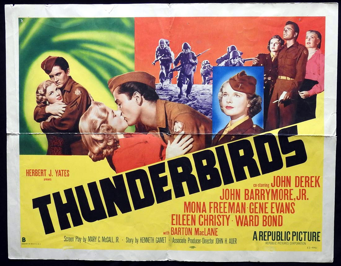 THUNDERBIRDS US Half sheet Movie poster John Derek John Drew Barrymore