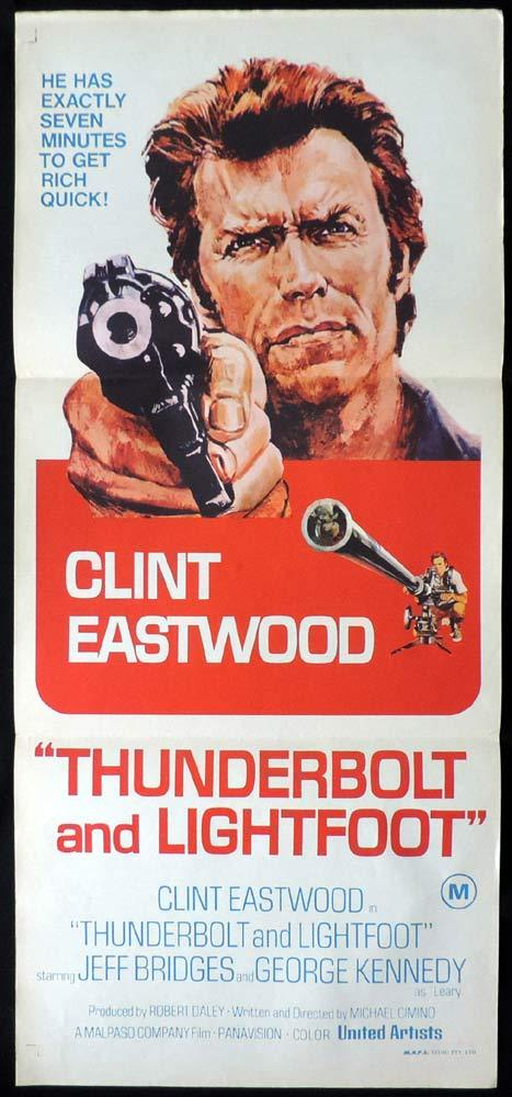 THUNDERBOLT AND LIGHTFOOT Original Daybill Movie Poster Clint Eastwood