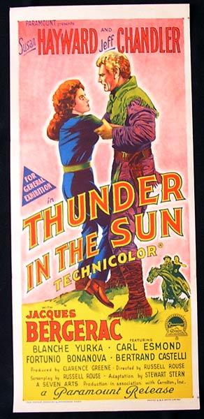 THUNDER IN THE SUN Original Daybill Movie Poster Claudette Colbert