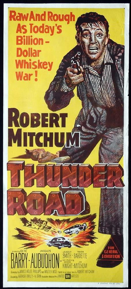 THUNDER ROAD Movie Poster 1963 Copplola RARE STYLE ADVANCE daybill Movie poster