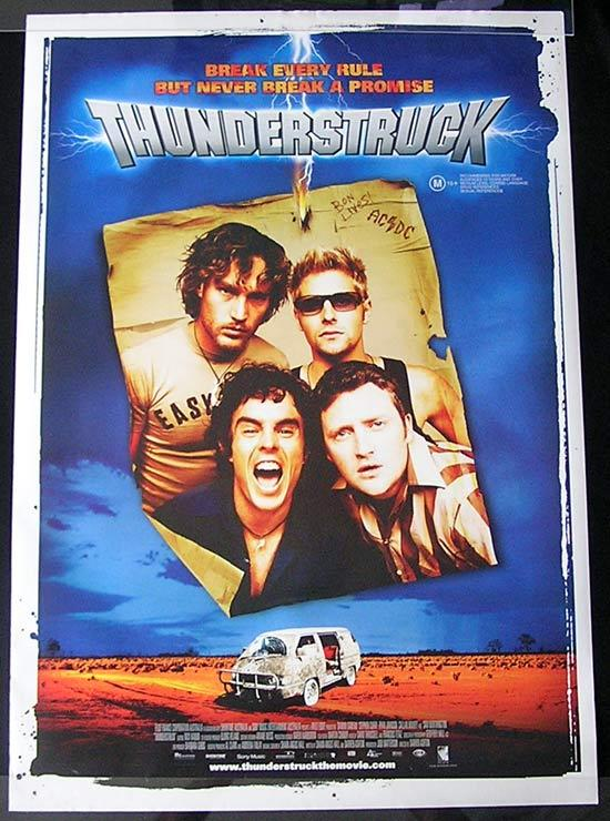 THUNDERSTRUCK '04 Rare AC/DC Original 1sh Movie poster