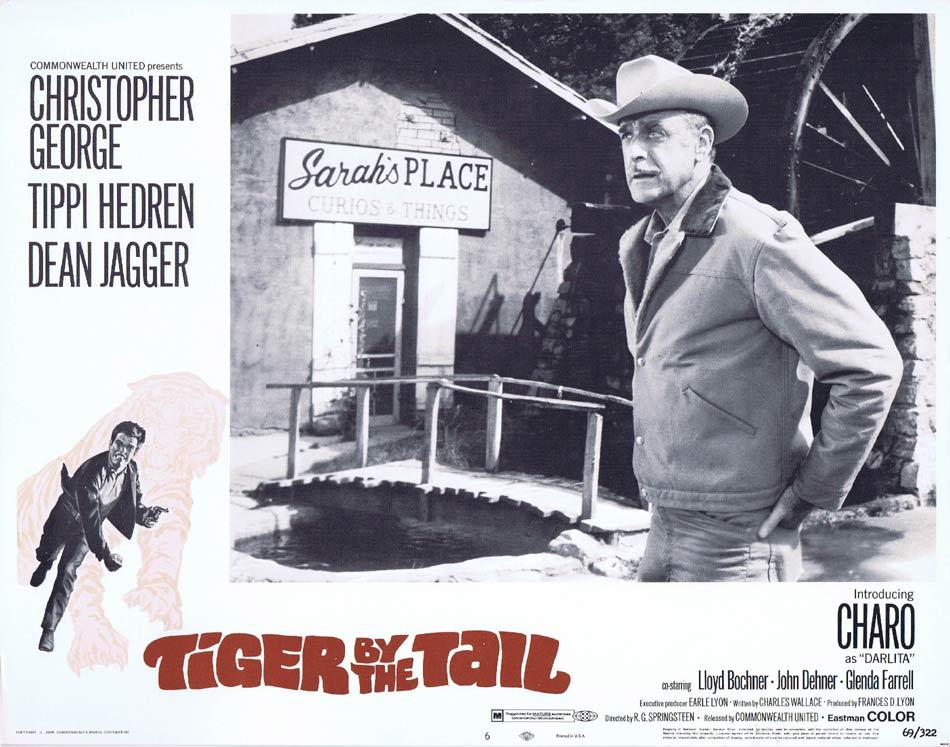 TIGER BY THE TAIL Lobby Card 6 Christopher George Tippi Hedren Dean Jagger