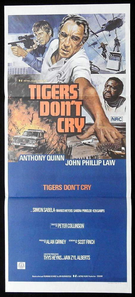 TIGERS DONT CRY Original Daybill Movie Poster Anthony Quinn John Phillip Law