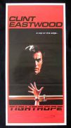 TIGHTROPE Daybill Movie Poster 1984 Clint Eastwood Genevieve Bujold