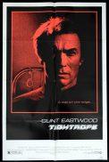 TIGHTROPE Original US One sheet Movie poster Clint Eastwood Geneviève Bujold