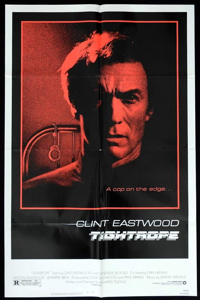 TIGHTROPE Original US One sheet Movie poster Clint Eastwood Geneviève Bujold