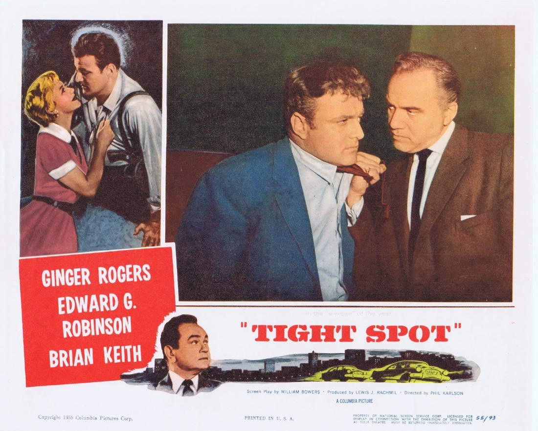 TIGHT SPOT Original Lobby Card Ginger Rogers Edward G.Robinson