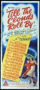 TILL THE CLOUDS ROLL BY Original daybill Movie Poster Judy Garland