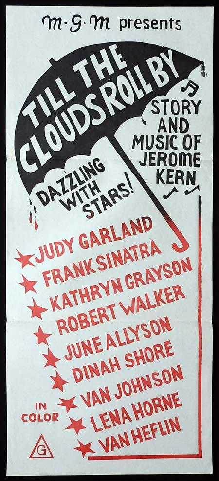 TILL THE CLOUDS ROLL BY Original Daybill Movie Poster Judy Garland 1970sr