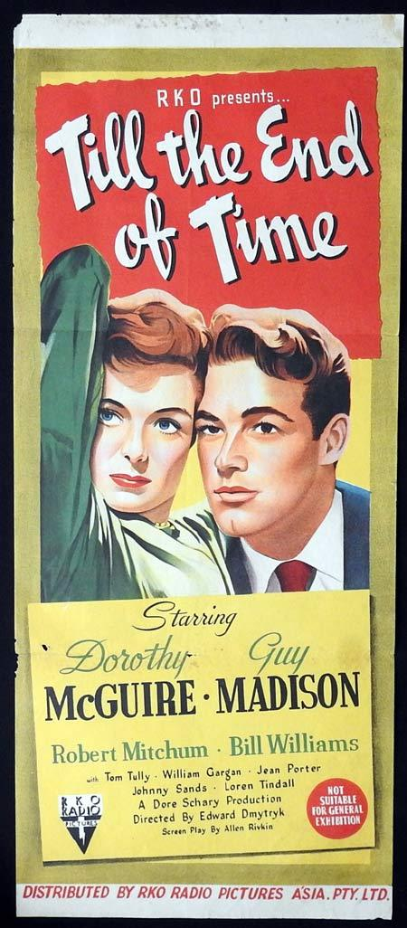 TILL THE END OF TIME Original Daybill Movie poster Dorothy McGuire Guy Madison