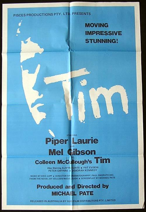 TIM '79 Mel Gibson ORIGINAL Australian Film ONE SHEET poster