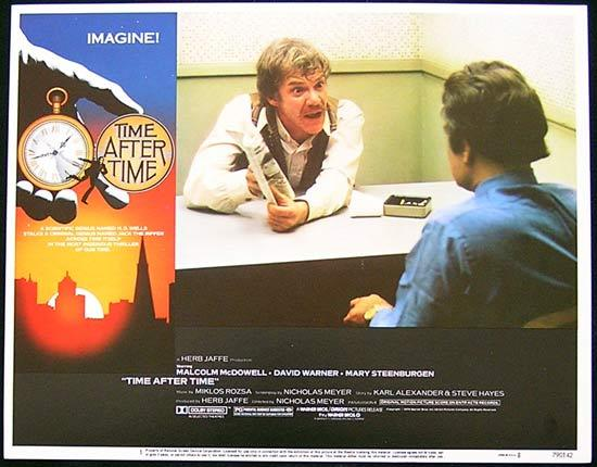 TIME AFTER TIME 1979 Malcolm McDowell Lobby Card 1