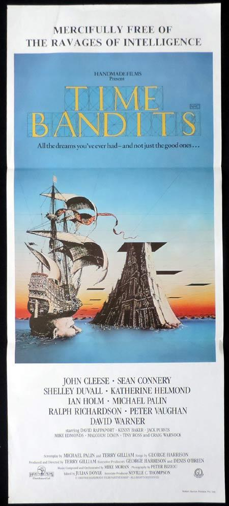 TIME BANDITS Original Daybill Movie Poster John Cleese Terry Gilliam
