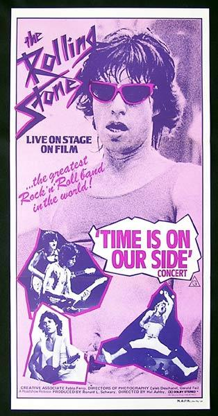 TIME IS ON OUR SIDE 1982 Rolling Stones CONCERT Daybill Movie Poster