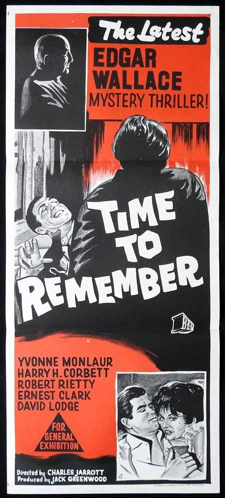 TIME TO REMEMBER Original Daybill Movie Poster Edgar Wallace Mysteries