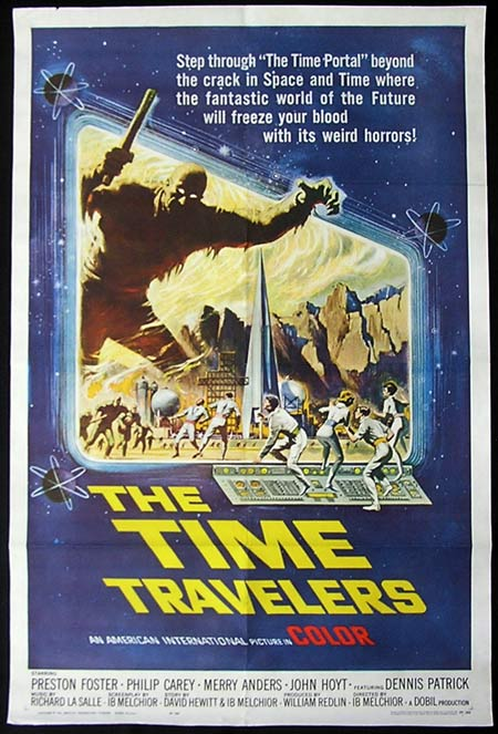 TIME TRAVELERS 1964 US one sheet poster Reynold Brown art SCI FI