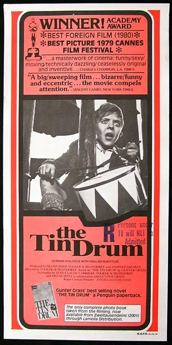 THE TIN DRUM Rare Original Movie Poster