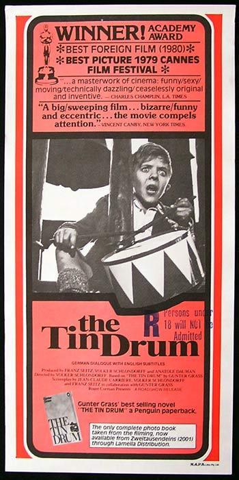 THE TIN DRUM Rare Original Movie Poster