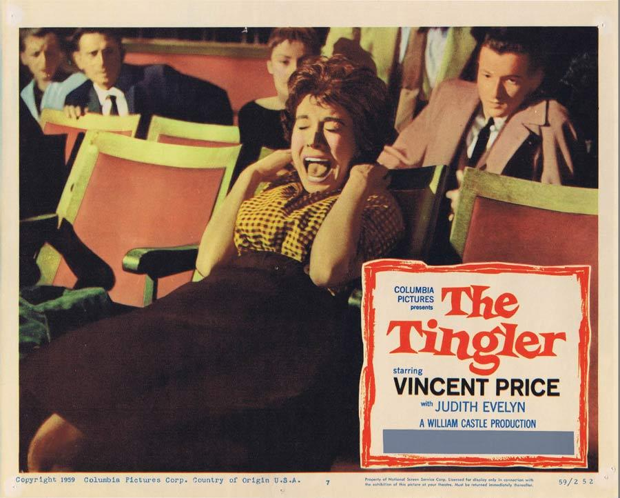 THE TINGLER Lobby Card 7 Vincent Price William Castle