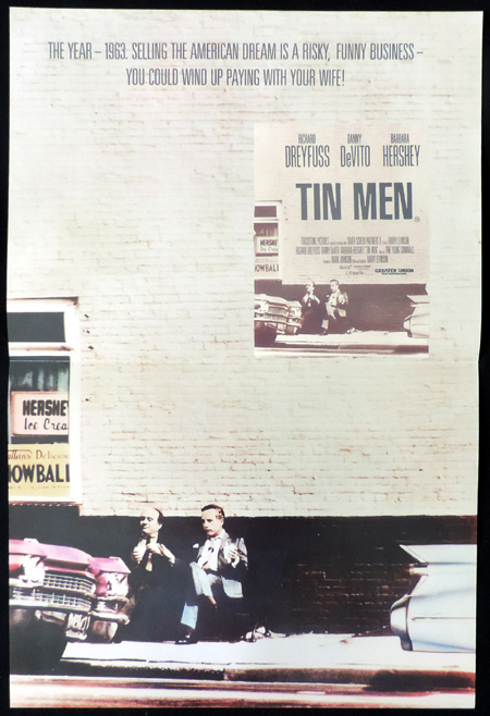 TIN MEN Original Daybill Movie poster Richard Dreyfuss Danny DeVito