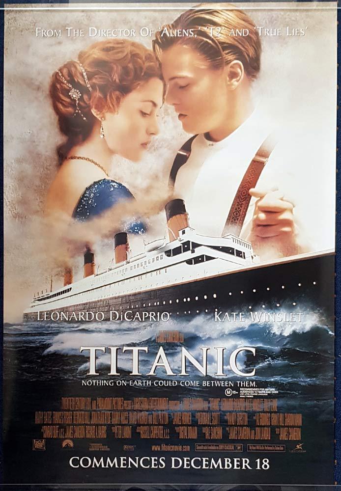 TITANIC Original One sheet Movie Poster Leonardo DiCaprio Kate Winslet
