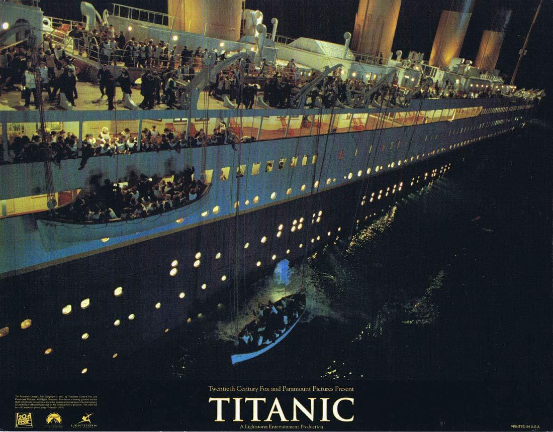 TITANIC Original Lobby Card LEONARDO DI CAPRIO Kate Winslett