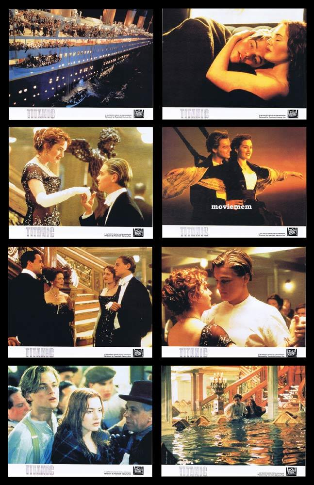 TITANIC Vintage Colour Movie Still Set Leonardo DiCaprio