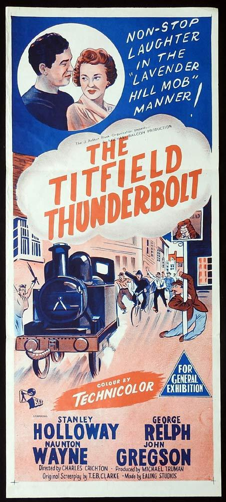 THE TITFIELD THUNDERBOLT Daybill Movie Poster Stanley Holloway 50sr