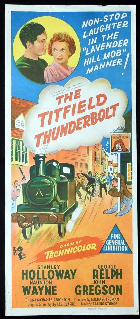 THE TITFIELD THUNDERBOLT Original daybill Movie Poster Stanley Holloway George Relph Naunton Wayne