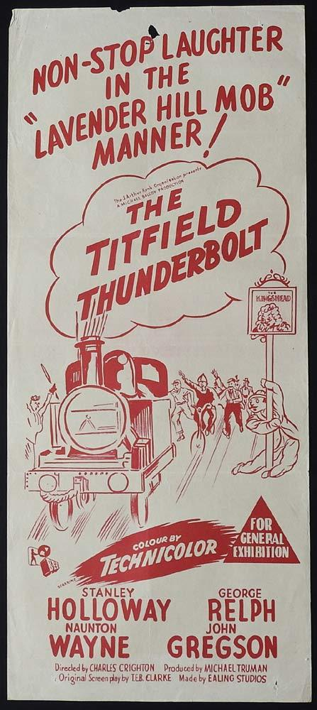 THE TITFIELD THUNDERBOLT 60sr Daybill Movie Poster Stanley Holloway Ealing