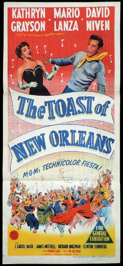 THE TOAST OF NEW ORLEANS Daybill Movie poster Mario Lanza