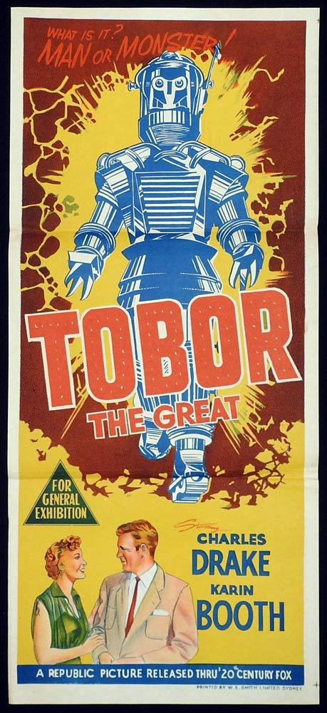 TOBOR THE GREAT Original Daybill Movie Poster Sci Fi Robot Spaceman
