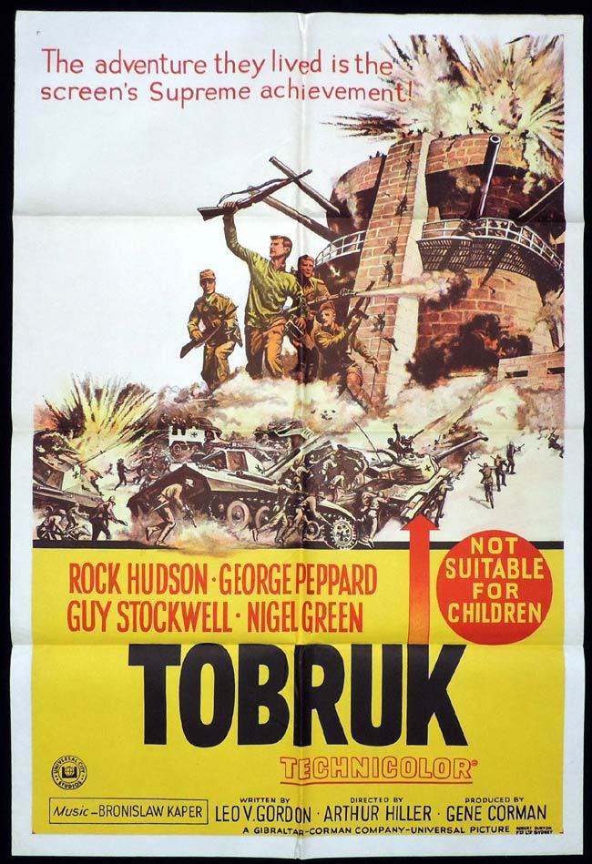 TOBRUK One Sheet Movie Poster Rock Hudson George Peppard