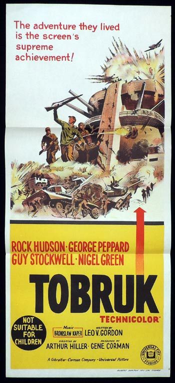 TOBRUK Daybill Movie poster Rock Hudson