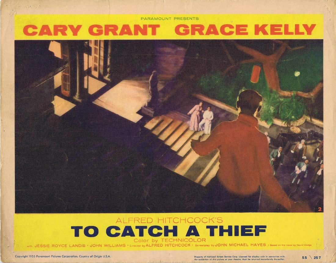 TO CATCH A THIEF Lobby Card 2 Alfred Hitchcock Cary Grant Grace Kelly