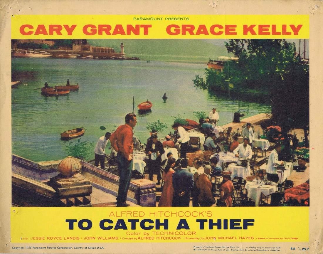 TO CATCH A THIEF Lobby Card 6 Alfred Hitchcock Cary Grant Grace Kelly